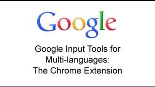 Google Input Tools: Chrome Extension