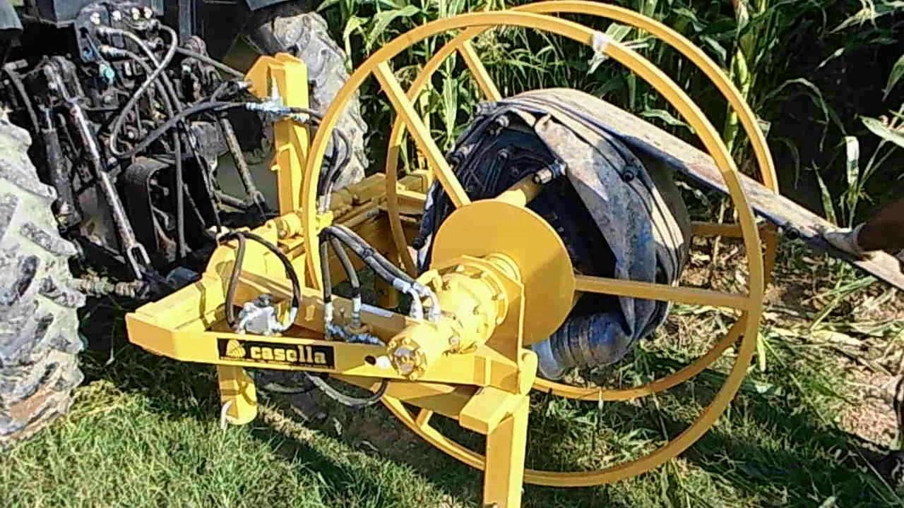 Avvolgitore manichetta irrigazione a goccia