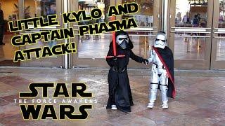 Little Kylo-Ren & Captain Phasma Attack! - Star Wars Kids
