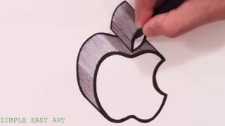 How To Draw The Apple Logo In 3d 免费在线视频最佳电影电视节目