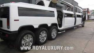 2017! Triple Axle H2 Hummer JET DOOR limo