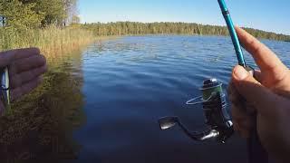 Рыбалка на черном озере в лобаново