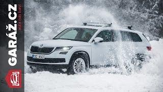 Škoda Kodiaq 4x4: Test GARÁŽ.cz - Se Škodovkou Na Sněhu (snow Drift)