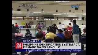 Philippine identification system act, pirmado na ng pangulo