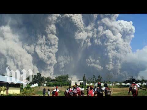 Volcano Erupts In Indonesia, Spews Massive Columns Of Ash