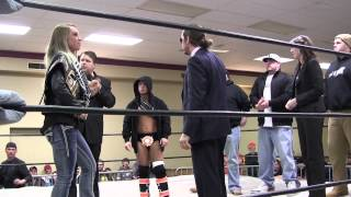 preview picture of video 'Erie Explosion make and important announcement at Pro Wrestling Rampage in Erie, PA'
