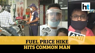 Watch: Petrol, diesel prices hiked for 20th straight day; common man badly hit