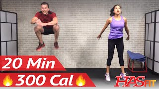 20 Minute HIIT Home Cardio Workout Without Equipment - Full Body HIIT Workout No Equipment at Home by HASfit