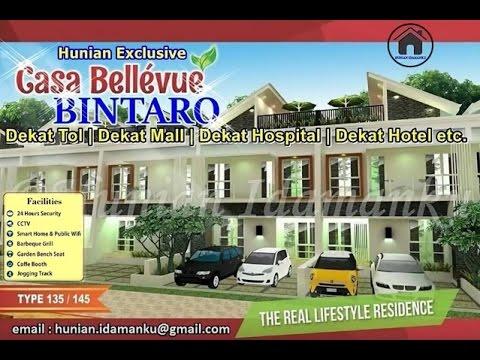 Unit Terbatas...! Rumah Cluster Exclusive Casa Bellevue Residence Bintaro | Murah, Nyaman, Strategis