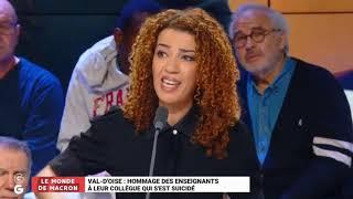 Fatima Aït Bounoua émue Aux Larmes Par Le Suicide D'un Enseignant.