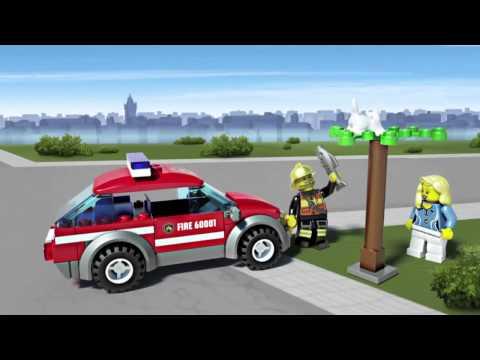 Vidéo LEGO City 60001 : La voiture du chef des pompiers
