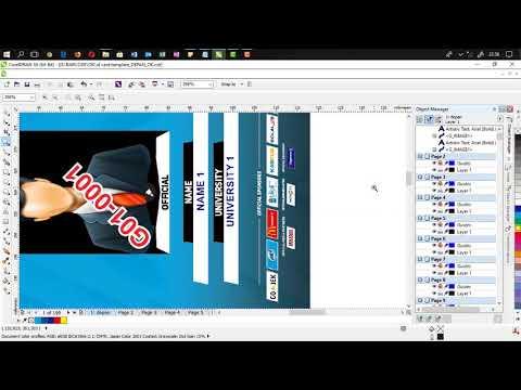Proses Print Merge ID Card di CorelDraw - смотреть онлайн на Hah Life