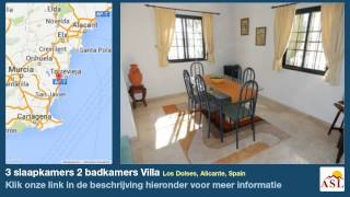 preview picture of video '3 slaapkamers 2 badkamers Villa te Koop in Los Dolses, Alicante, Spain'