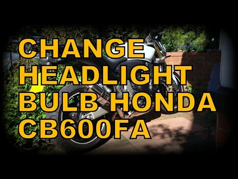 How to change headlight side bulb cb600fa