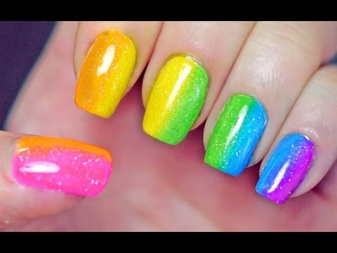 Rainbow Nails (Sponge Gradient)