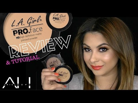 L.A. Girl PRO Face HD Matte Pressed Powder Review | ArielHopeMakeup