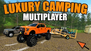 FARMING SIMULATOR 2017 | LUXURY CAMPING | MULTIPLAYER | KTM 125 | RAZOR