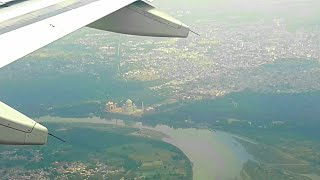 ✈FLIGHT REPORT,Taj Mahal Special,View of Beautiful TAJ MAHAL from Flight,Air India A319