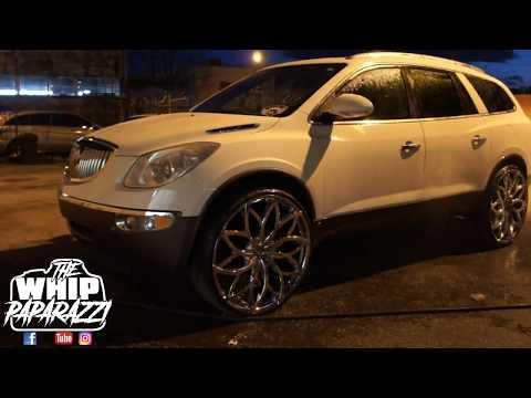 "Buick Enclave CXL on 28"" Chrome Azara AZA-504 Wheels (Lifted by Kc Custom Lifts)"
