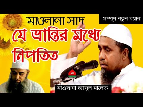 মাওলানা সাদ কান্দলভী যে ভুলে নিপতিত হয়ে উম্মতকে গোমরাহ করছেন। Maulana Abdul Malek