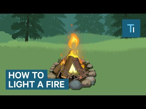 How to Make a Fire Without the Usual Tools