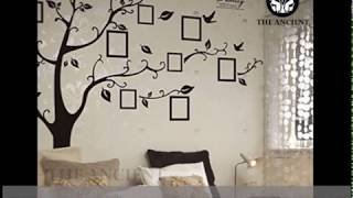 Ultra Large Family Tree Premium Wall Decal Sticker With Flat Frames