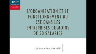 Réunion «Présider et animer le CSE dans les entreprises de moins de 50 salariés»