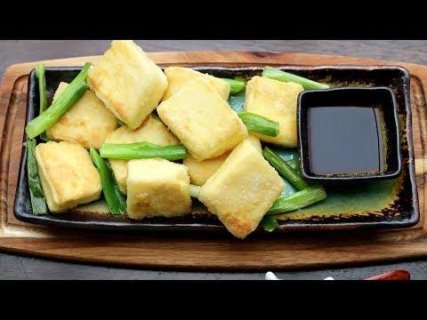 Homemade Egg Tofu - Pan-Fried Tofu with Spring Onion 自制蛋豆腐  葱煎豆腐