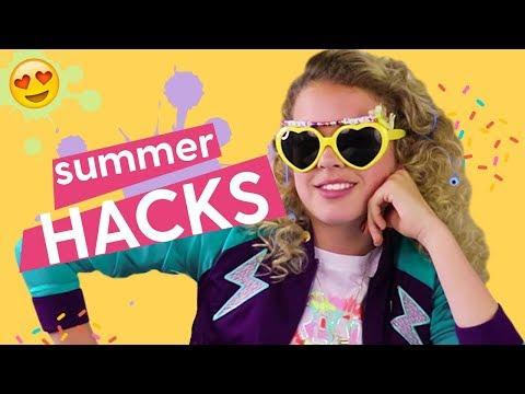 DIY Summer Hacks! Hack Along: Musical Sunglasses, Party Light, Phone Charger | DIY LIFE HACKER GIRL