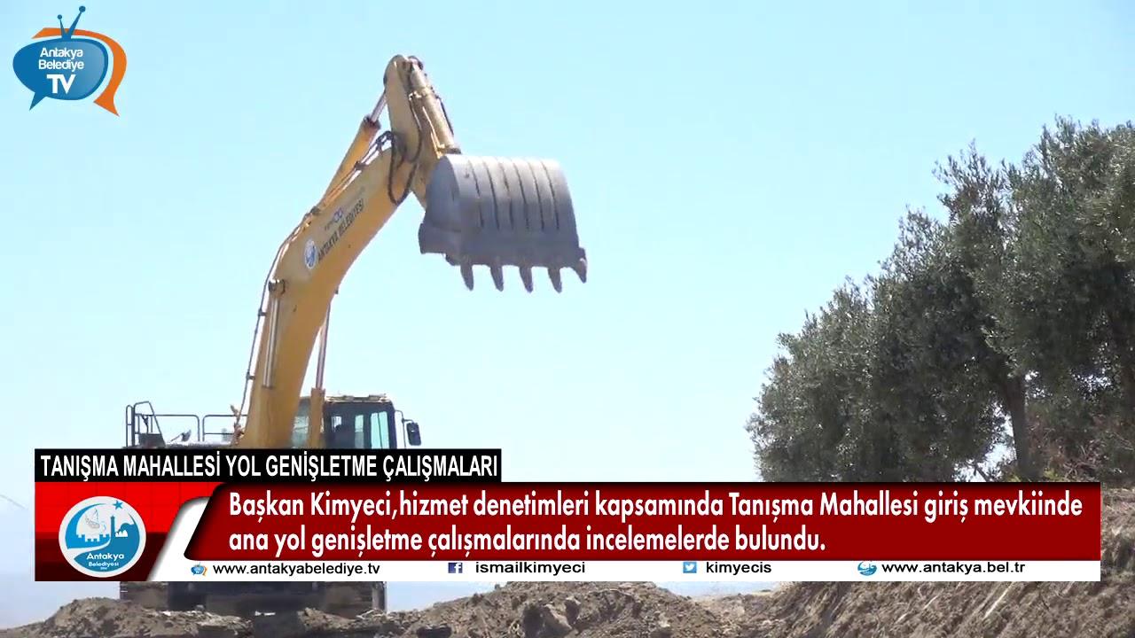 BAŞKAN KİMYECİ, TANIŞMA MAHALLESİ'NDEKİ YOL GENİŞL...