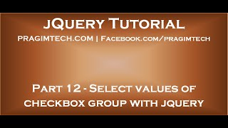 Select values of checkbox group with jquery