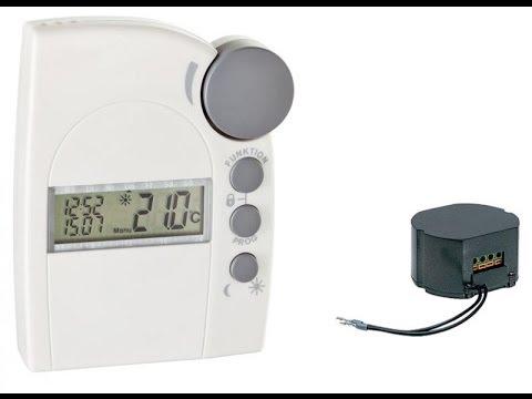 Funkthermostat FS20 STR mit Unterputz-Funkschalter FS20 SU: Anlernen und Funktionen