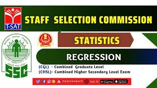 T-SAT || SSC ( CGL/CHSL ) || STATISTICS - REGRESSION || 26-02-2021