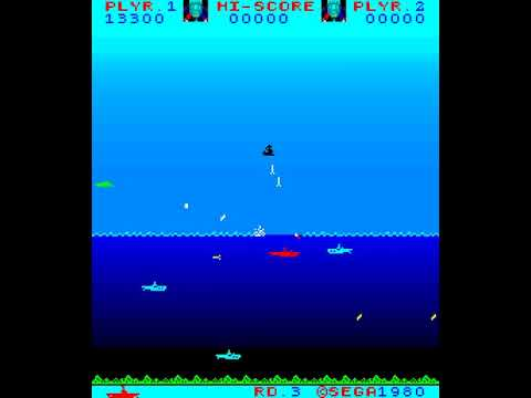 Arcade Game: N-Sub (1980 Sega)