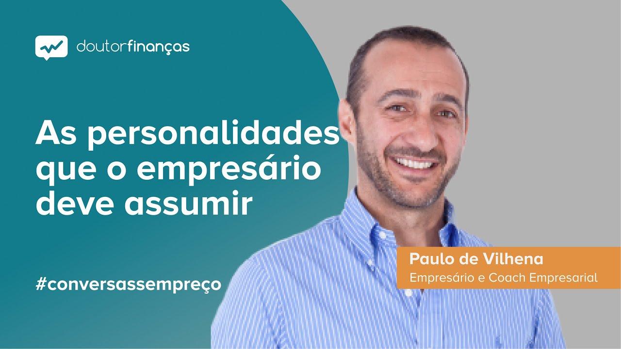 Imagem de um pc portátilse vê o programa Conversas sem Preço com a entrevista a Paulo de Vilhena, empresário e coah empresarial, fundador da Paulo de Vilhena Business Excelerators