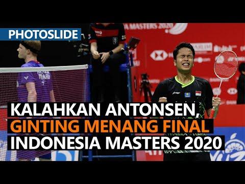 Kalahkan Antonsen, Ginting Menang Final Indonesia Masters 2020