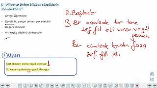 Eğitim Vadisi 9.Sınıf TDE 12.Föy Noktalama İşaretleri 1 Konu Anlatım Videoları