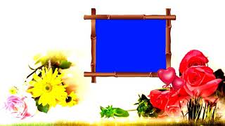 wedding frame blue background video effects hd - मुफ्त