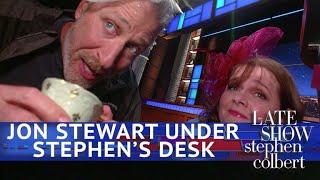 Jon Stewart: Live From Below Stephen's Desk - Video Youtube
