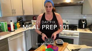 21 Day Fix Meal Prep For Beginners 101