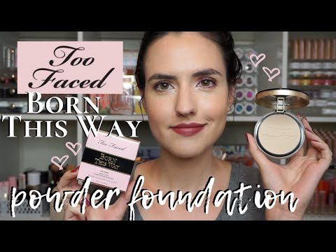 Too Faced Born This Way Powder Foundation | Application Demo + DRY SKIN Wear Test