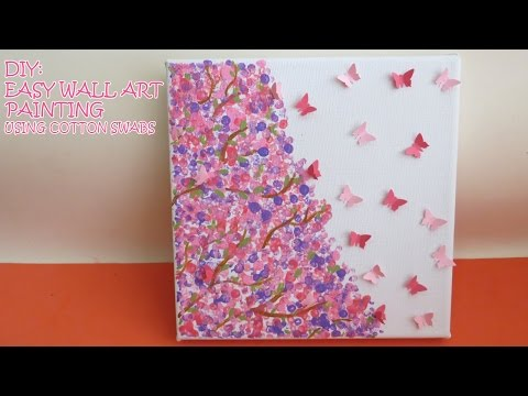 DIY: Easy Wall Art Painting (using cotton swabs)