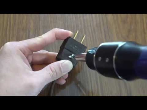 How to Fix a Broken Power Cord Plug Using the Leviton 2-prong Repair Connector