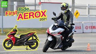 First Ride All New Yamaha Aerox สปอร์ตสกู๊ตเตอร์ เท่ทุกองศา