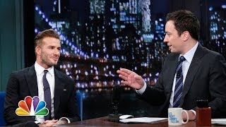 David Beckham Flashes Some Underwear (Late Night with Jimmy Fallon) - Video Youtube