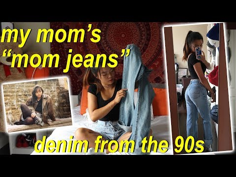 "Going Through MY MOM'S ""MOM JEANS"""