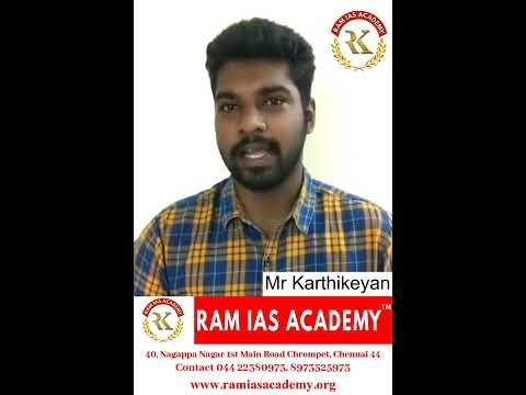 Mr Karthikeyan Feedback of RAM IAS Academy