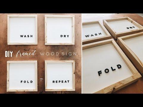 DIY Framed Wood Wall Art