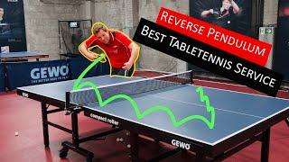 Gefährlichster Tischtennis Aufschlag der Welt!? Reverse Pendulum | Gegenläufer
