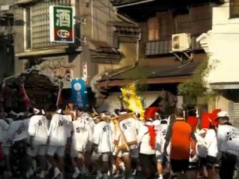 生根神社 平成22年 秋季例大祭 神輿渡御 神輿電車道へ